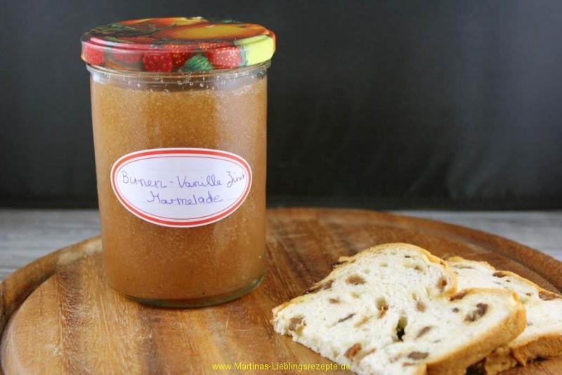 Birnen-Vanille-Zimt Marmelade