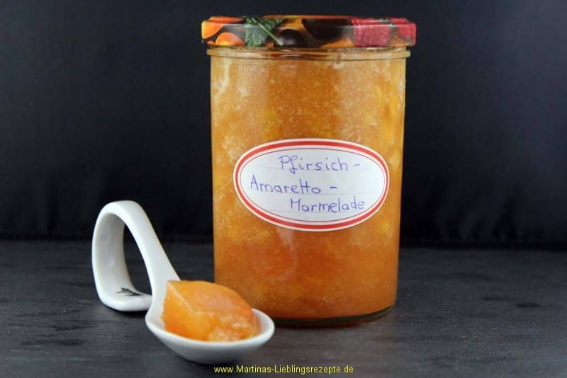 Pfirsich-Amaretto Marmelade