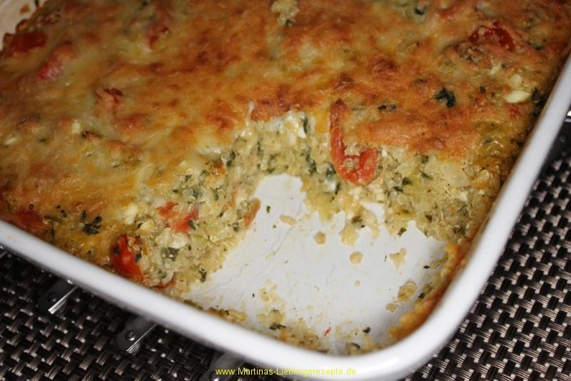 Vegetarischer Auflauf mit Quinoa