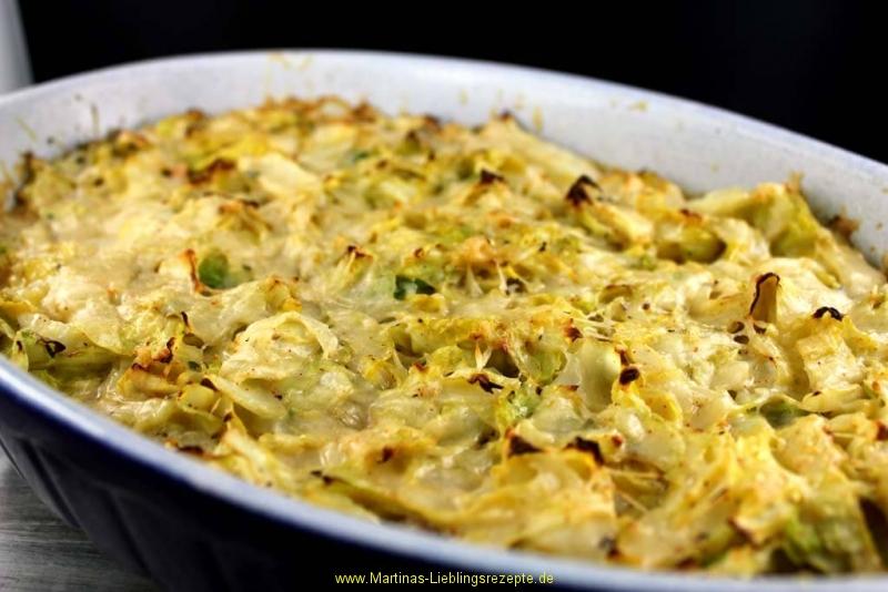 Spitzkohl-Kartoffel-Hack Auflauf