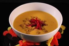 Süßkartoffel-Limettensuppe mit Rote Bete Relish