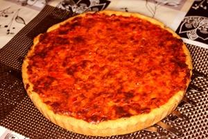 Zwiebel-Paprika Quiche