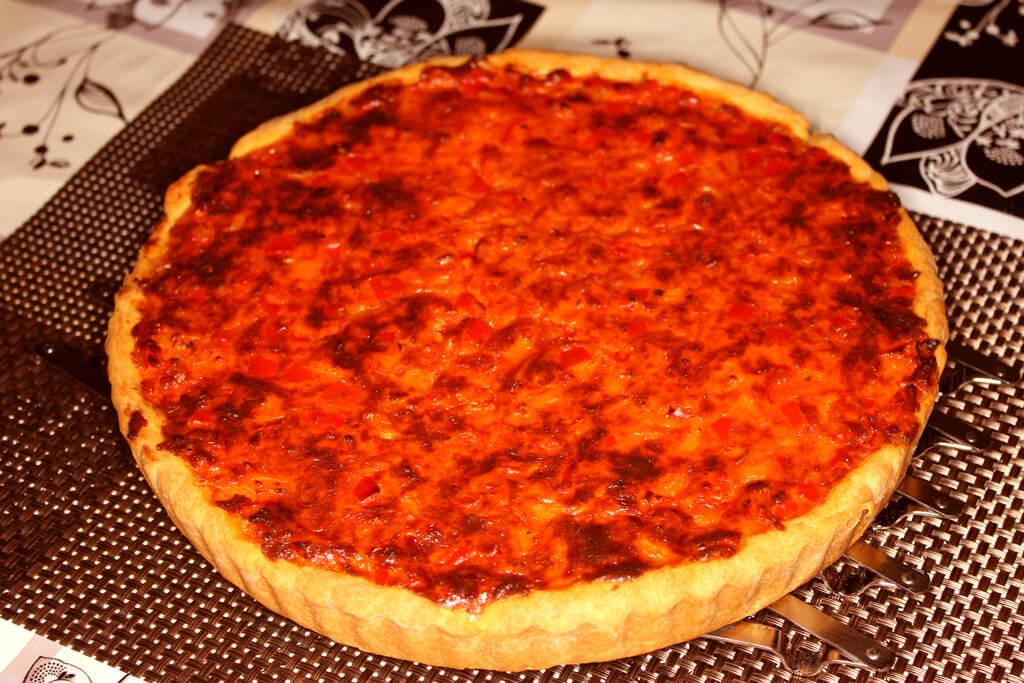Zwiebel-Paprika Quiche, vegetarisch