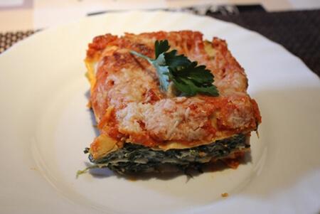 Lasagne mit Spinat und Parmesan