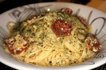 Spaghetti mit Chorizo-Wurst