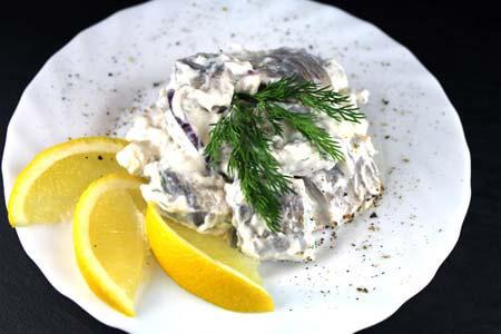 Foto zum Rezept: Matjes in Sahnesauce auf www.martinas-lieblingsrezepte.de