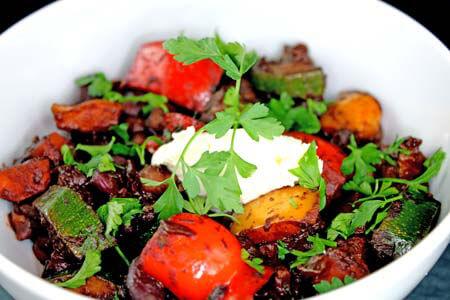 Foto zum Rezept: Vegetarisches Chili mit dunkler Schokolade auf www.martinas-lieblingsrezepte.de
