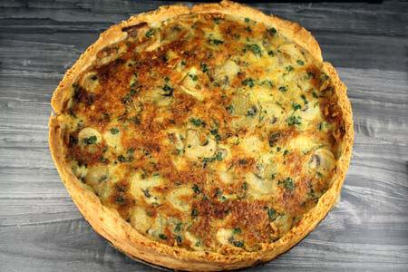 Foto zum Rezept: Champignontaart auf www.martinas-lieblingsrezepte.de