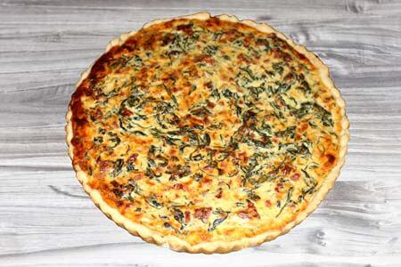 Foto zum Rezept: Spinat-Ziegenfrischkäse Quiche auf www.martinas-lieblingsrezepte.de