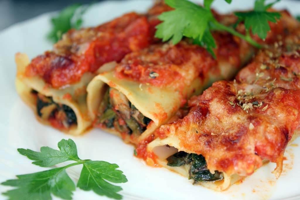 Spinat-Champignon-Cannelloni