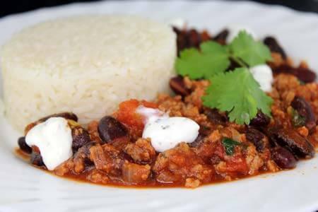 Foto zum Rezept: Schnelles Chili con carne mit Zimt auf www.martinas-lieblingsrezepte.de