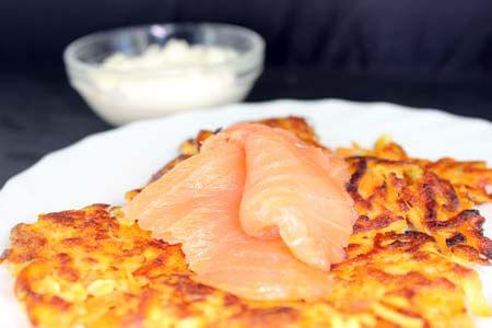 Foto zum Rezept: Kartoffel-Rösti mit Möhren und Ingwer auf www.martinas-lieblingsrezepte.de