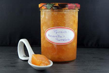 Foto zum Rezept: Pfirsich-Amaretto Marmelade auf www.martinas-lieblingsrezepte.de