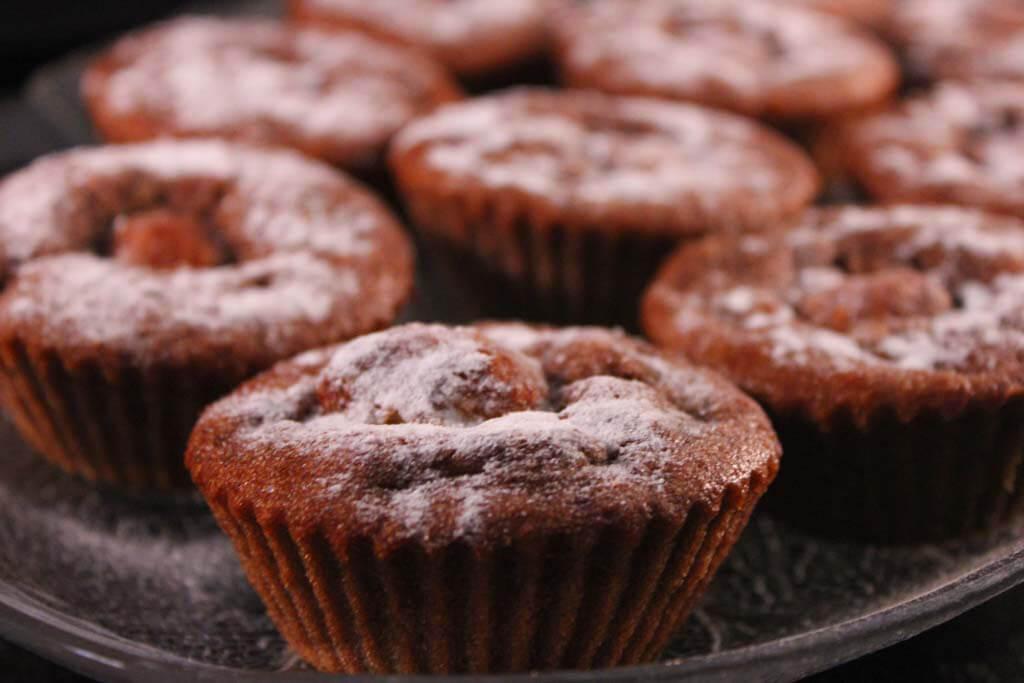 Foto zum Rezept: Schoko-Bananen-Kokos-Muffins auf www.martinas-lieblingsrezepte.de