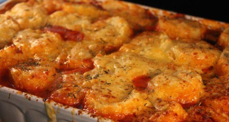 Foto zum Rezept: Filetragout mit Käseknödelhaube auf www.martinas-lieblingsrezepte.de