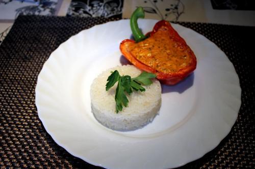 Paprika mit Käsefüllung